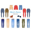 men s pants collection vector image vector image