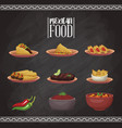 mexican food menu card vector image