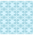 Neutral floral ornament cool blue vector image vector image