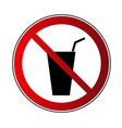 no drink sign prohibited sign beverage isolated vector image