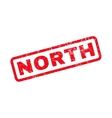 North Rubber Stamp vector image