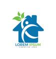 nursing home and human health and medical logo vector image vector image