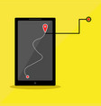 phone series map tracking vector image vector image