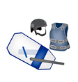 Police Equipment and Police Uniform vector image