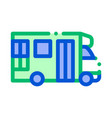 public transport paratransit sign icon vector image vector image