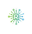 r share letter logo icon design vector image
