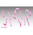 realistic silk ribbon set vector image vector image