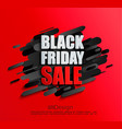 sale banner for black friday on red background vector image vector image
