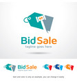 sale logo template vector image