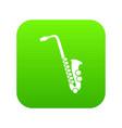 saxophone icon digital green vector image