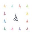 scissors flat icons set vector image