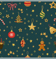 seamless background with colorful hand draw vector image