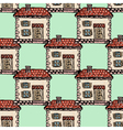 seamless background with old European house vector image vector image