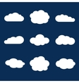 set clouds in blue sky vector image