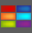 set colored backgrounds for euroflayer format vector image vector image