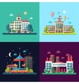 set modern flat design conceptual city vector image