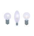 set of light bulbs vector image vector image