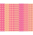 Set of simple seamless pattern 4 vector image vector image