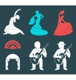 Set Silhouettes and Signs Flamenco vector image vector image