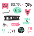 set text labels vector image vector image