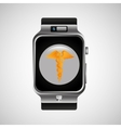 smart watch caduceus wearable healthy vector image vector image