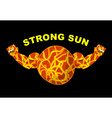 Strong sun Planet bodybuilder with big muscles vector image vector image
