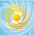 summer yellow with circle pattern background vector image vector image