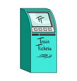 terminal for train tickets terminals single icon vector image vector image