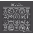 Thin line icons Brazil 2 vector image vector image
