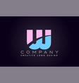 uj alphabet letter join joined letter logo design vector image vector image