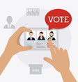 Vote design vector image vector image