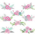 wedding flower set vector image vector image