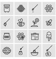 line honey icon set vector image