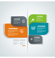 template for interface or infographic ready to vector image