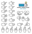 modern linear design hand icons and vector image
