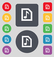 Audio MP3 file icon sign A set of 12 colored vector image vector image