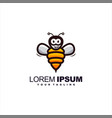 awesome honey bee logo design vector image vector image