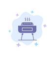 barbeque celebration festivity holiday blue icon vector image vector image