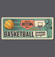 basketball sport game bets office vector image vector image