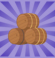 beer barrels at octoberfest vector image vector image