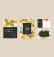 botanical wedding invitation card vintage save vector image vector image