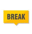 break price tag vector image vector image