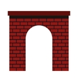 Brick arch icon flat style vector image vector image
