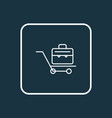 briefcase icon line symbol premium quality vector image vector image