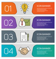 business banner templates set vector image