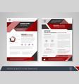 business flyer presentation vector image vector image