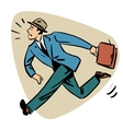 Businessman runn late business people concept vector image vector image