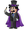 cartoon magician vector image