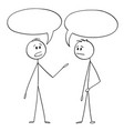 cartoon two men or businessmen talking with vector image vector image