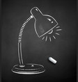 chalk drawn lamp vector image